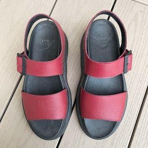 Dr Martens Real Leather Slight Platform Sandals